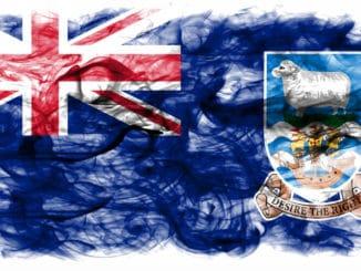Flagge Großbrittanien, Logo Falklands