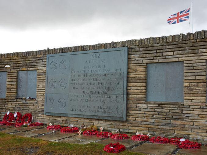 Gedenkstätte auf den Falklands