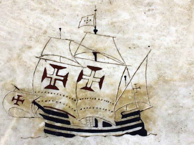 Portugiesisches Schiff (Zeichnung)