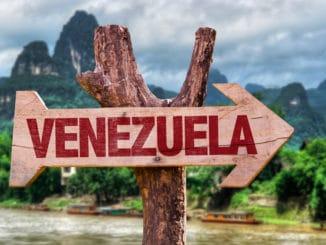 Schild mit Aufschrift Venezuela