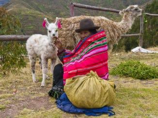 Frau in Peru