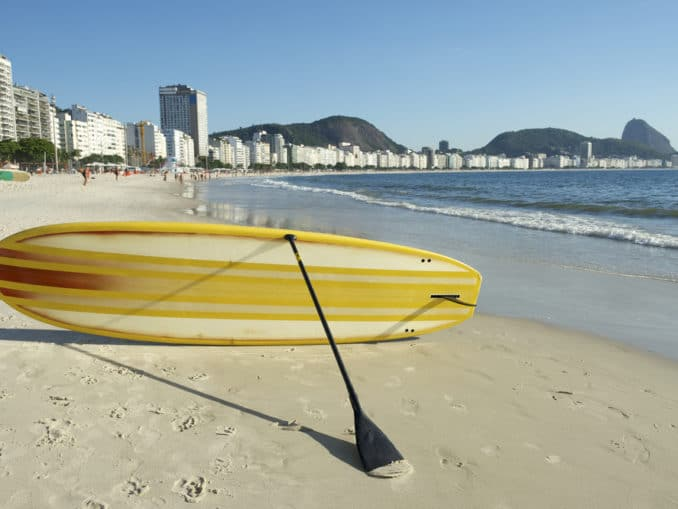 Stand Up Paddle an der Copacobana